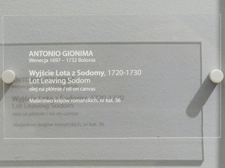 Antonio Gionima: Lot verlässt Sodom, 1720 - 1730, Bild 2/2