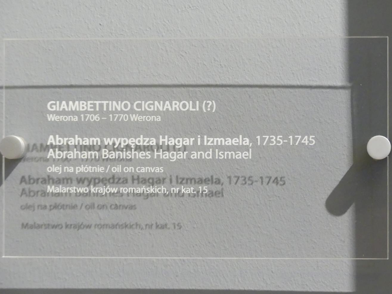 Gianbettino Cignaroli: Abraham verstößt Hagar und Ismael, 1735 - 1745, Bild 2/2