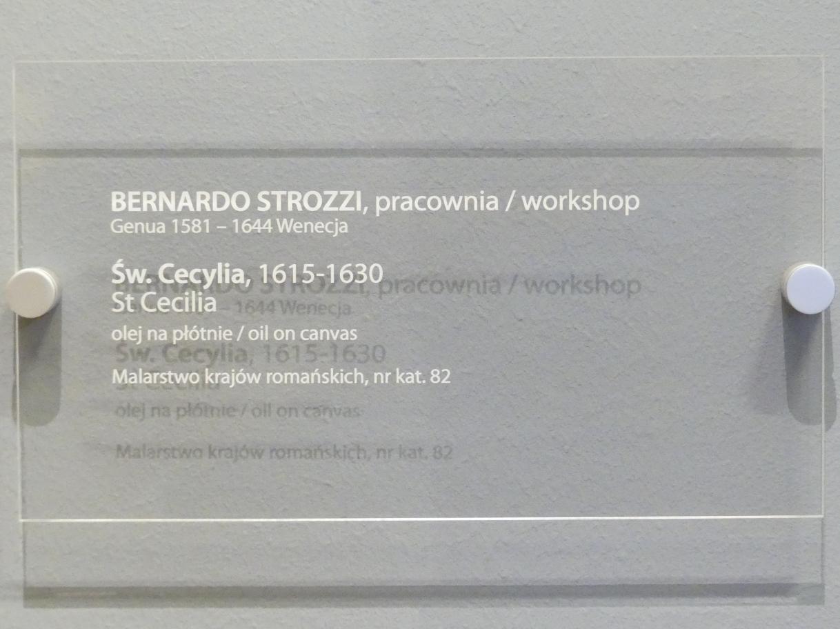 Bernardo Strozzi (Werkstatt): Heilige Cäcilia, 1615 - 1630, Bild 2/2