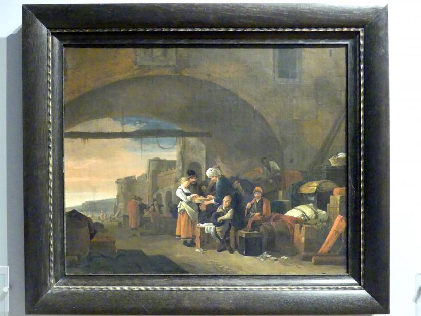 Thomas Wyck (Wijck): Mediterrane Hafenszene, 1660 - 1670