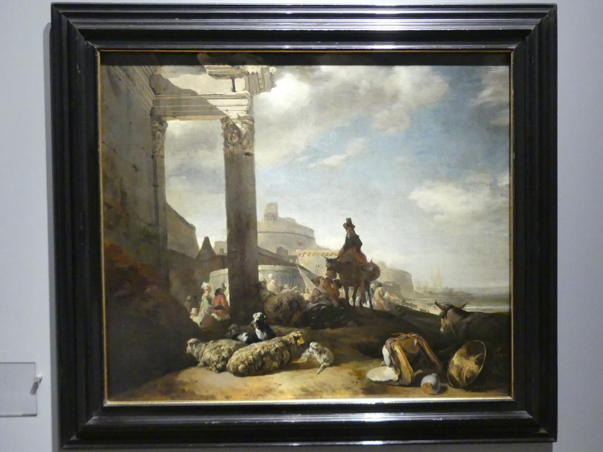 Jan Baptist Weenix: An den Mauern von Rom, Vor 1650