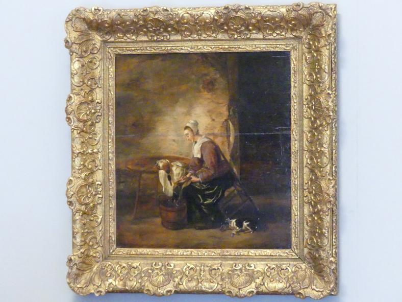 Adriaen Cornelisz. Beeldemaker: Frau beim Erpel rupfen, 1650 - 1660