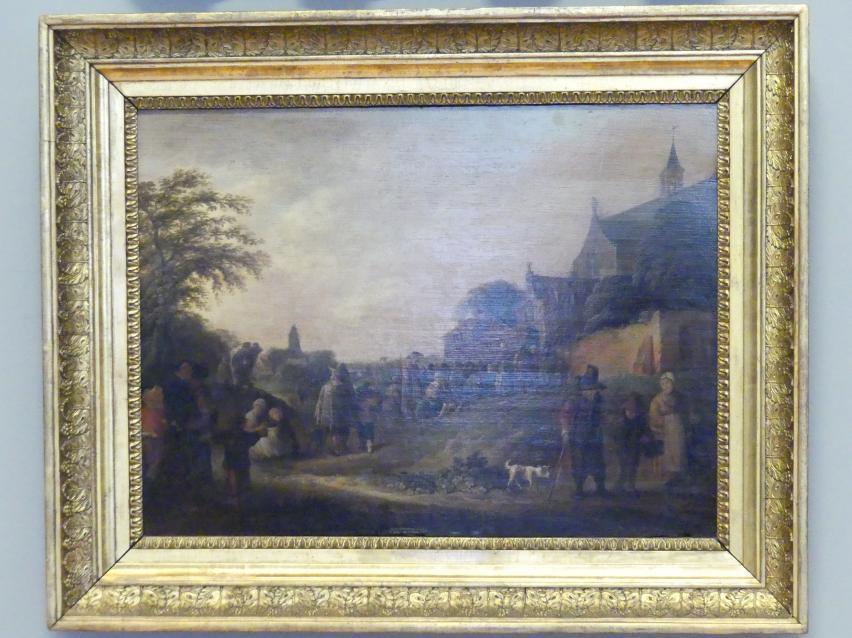 Pieter de Bloot: Almosengeben vor einer Kirche, 1630 - 1640