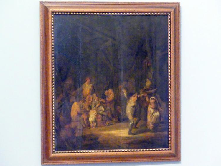 Benjamin Gerritsz. Cuyp: Bäuerliche Unterhaltung in der Scheune, 1640 - 1650