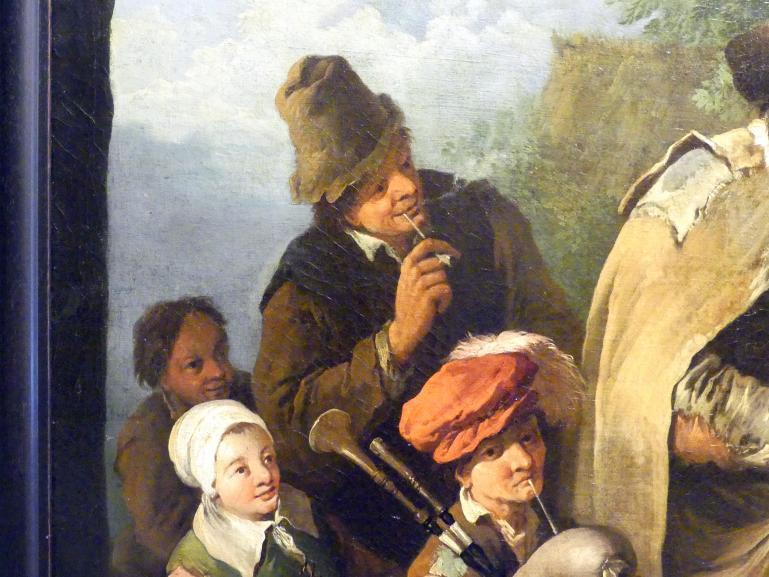Christian Wilhelm Ernst Dietrich: Wandermusiker, um 1745, Bild 4/4