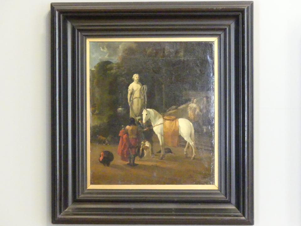 Karel Dujardin: Abreise vor einem Palast, 1664