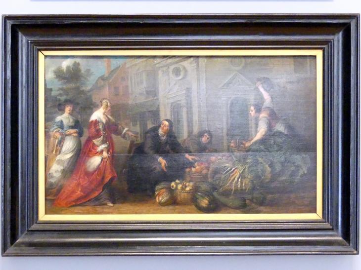 Willem van Herp: Streit auf dem Markt, um 1640