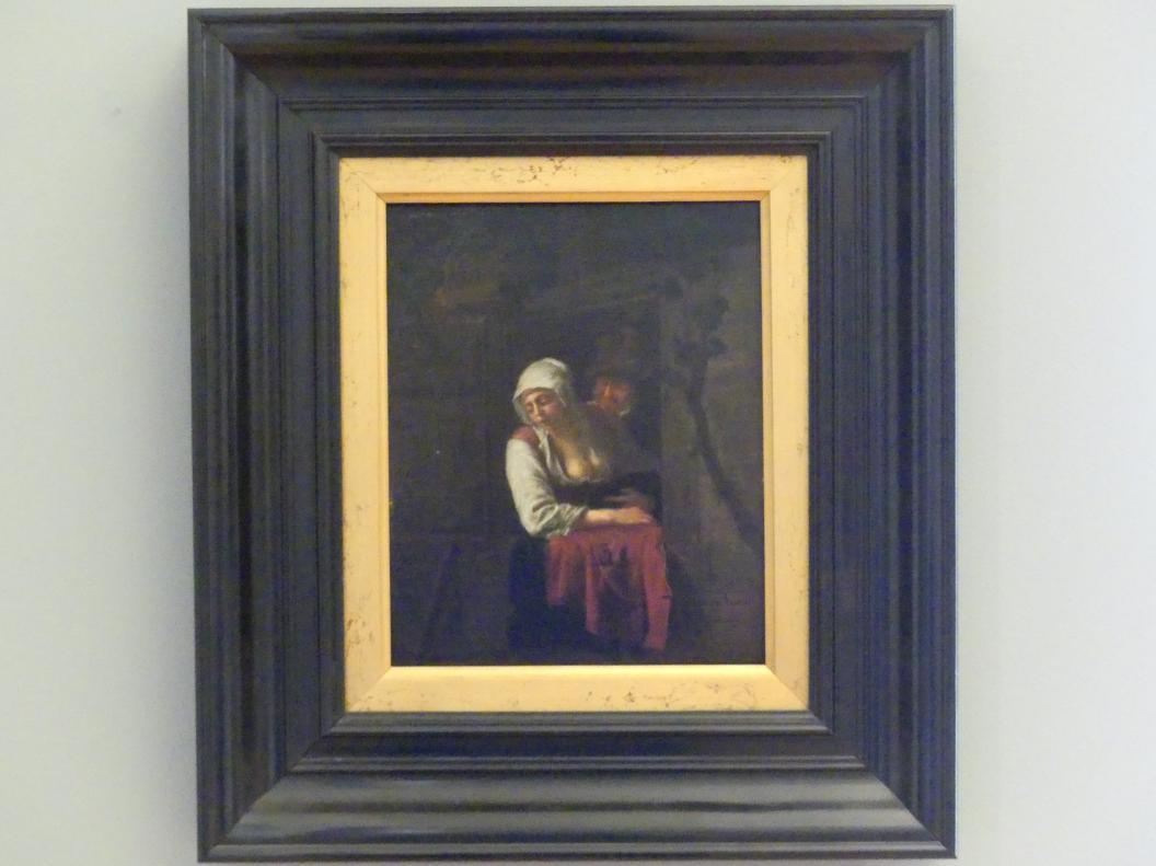 Adriaen van Ostade (Nachfolger): Frau im Fenster, 3. Viertel 17. Jhd.