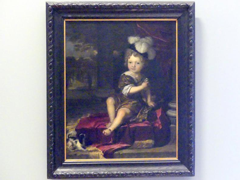 Carel de Moor: Porträt eines Jungen mit einer Meise, 1690