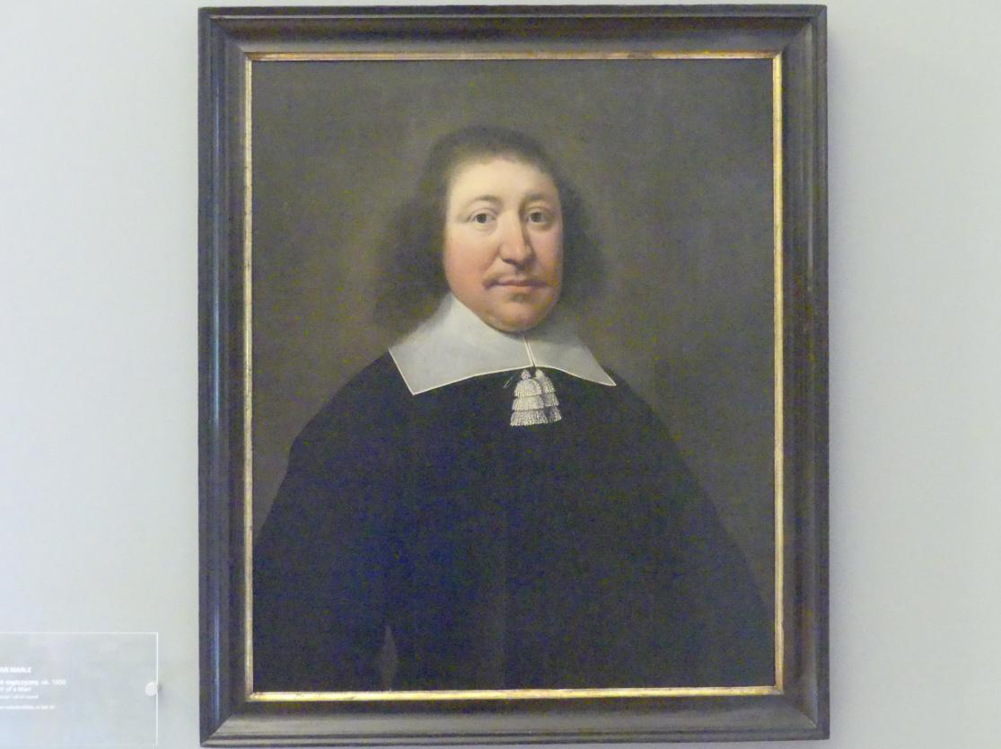 Eva van Marle: Porträt eines Mannes, Um 1650