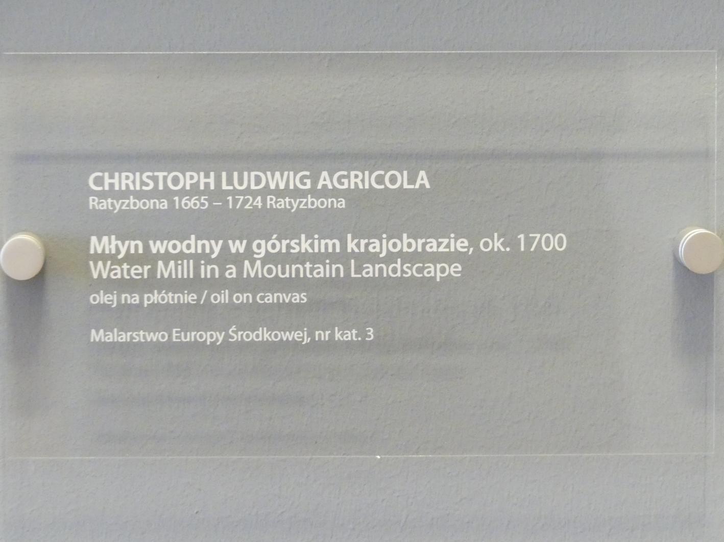 Christoph Ludwig Agricola: Wassermühle in einer Berglandschaft, um 1700, Bild 2/2