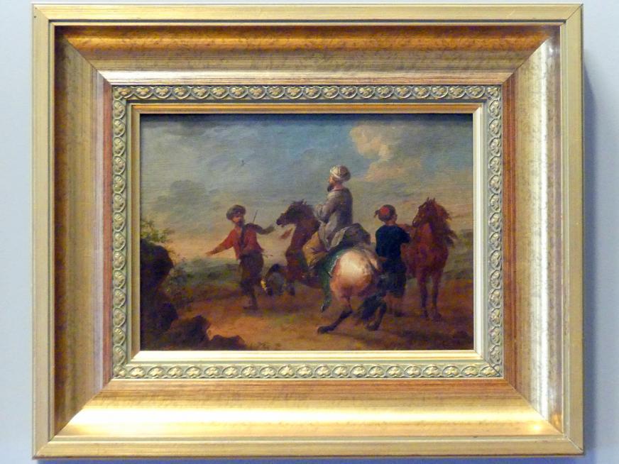 August Querfurt: Türkische Reiter in einer Landschaft, Um 1747