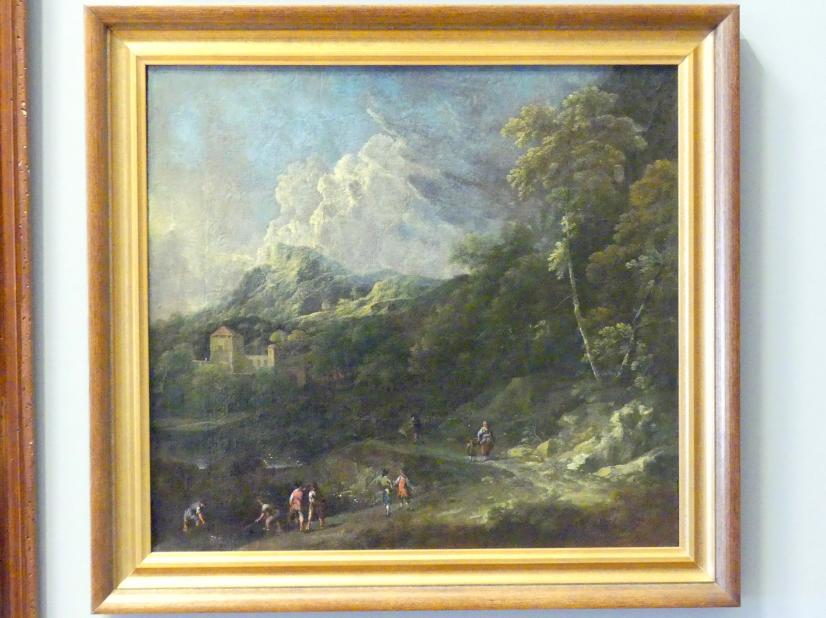 Josef Orient: Berglandschaft mit Reisenden, um 1710