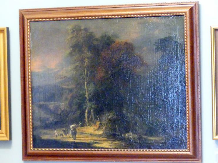 Christoph Ludwig Agricola: Pfad in einem bewaldeten Tal, nach 1700
