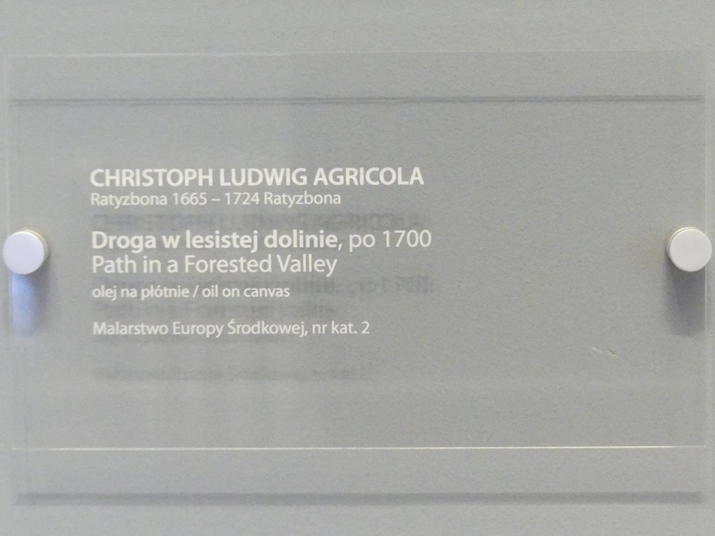 Christoph Ludwig Agricola: Pfad in einem bewaldeten Tal, nach 1700, Bild 2/2