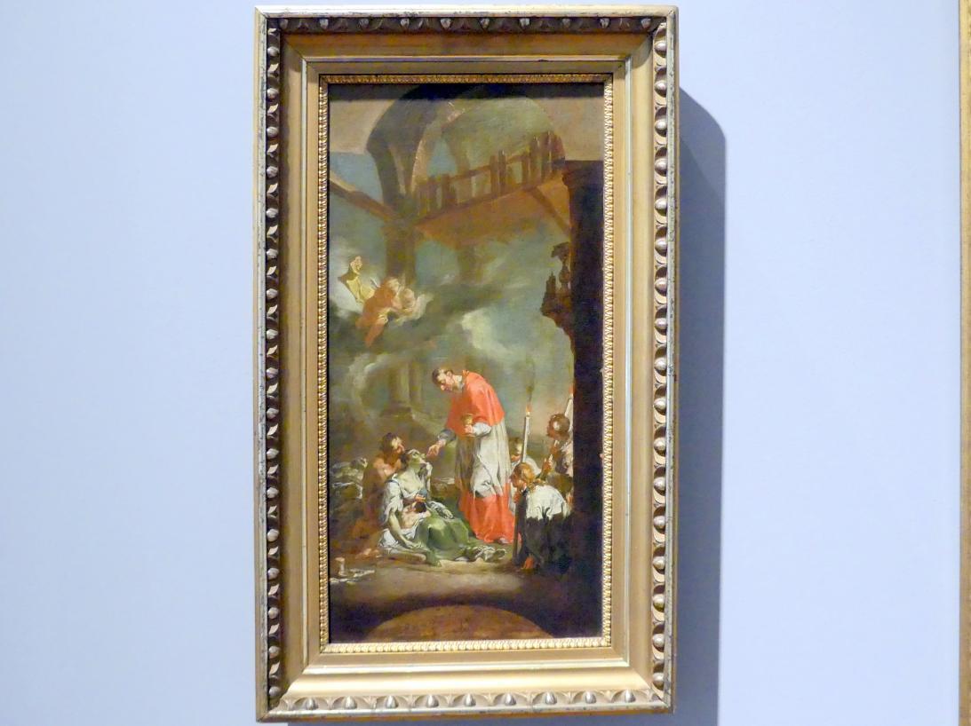 Caspar Franz Sambach: Der Heilige Karl Borromäus während der Hungersnot in Mailand, um 1751