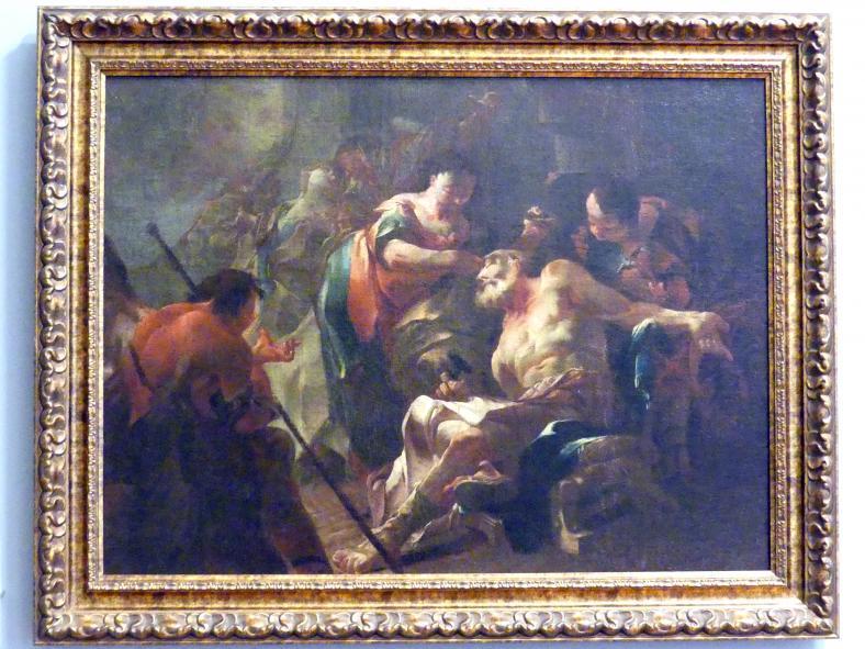 Franz Sigrist: Tobias heilt seinen blinden Vater, 1753