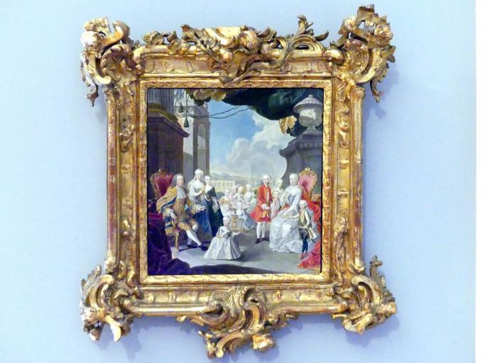 Wenzel Pohl: Kaiserin Maria Theresia mit Gemahl und Kindern, 1768