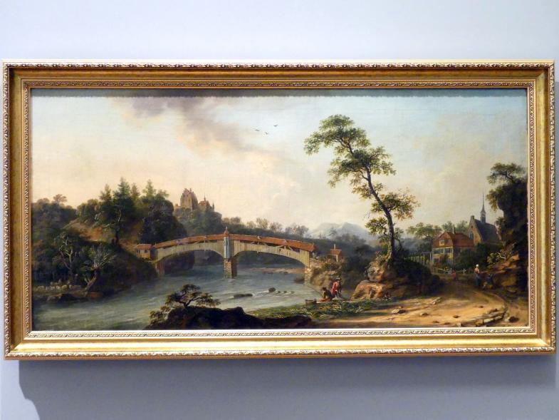 Johann Jacob Koller: Landschaft mit Brücke, um 1775