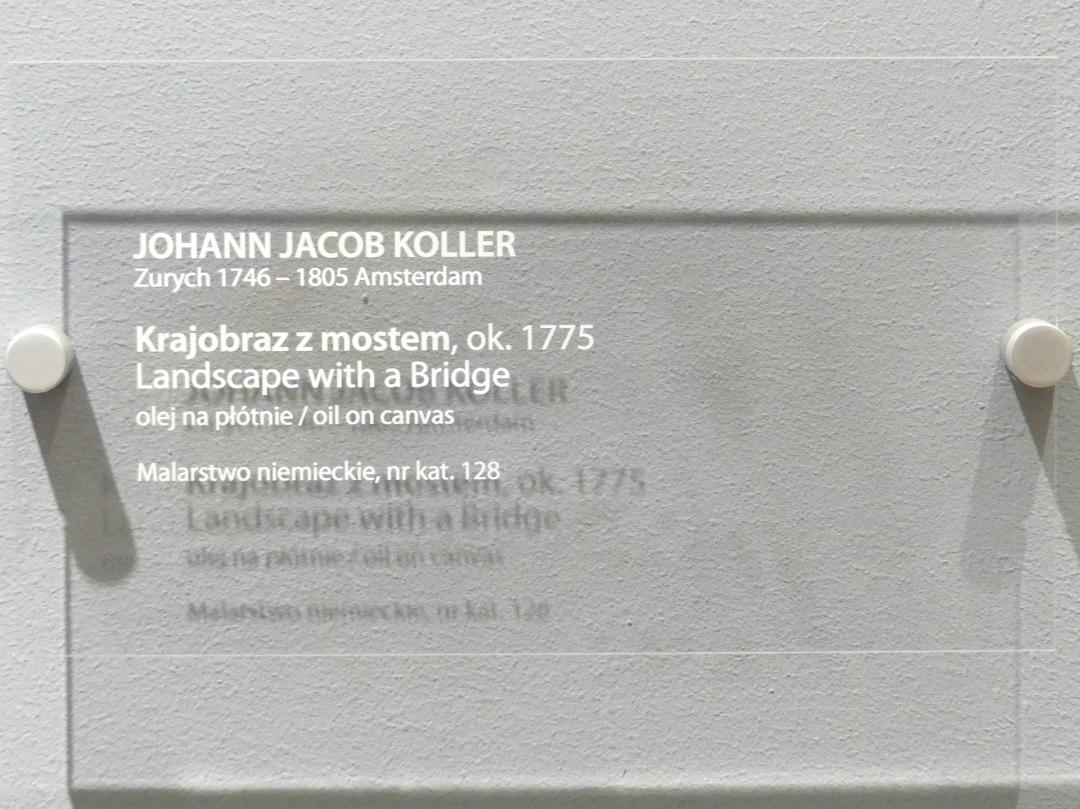Johann Jacob Koller: Landschaft mit Brücke, um 1775, Bild 2/2
