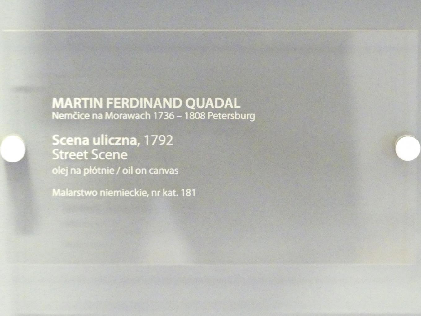 Martin Ferdinand Quadal: Straßenszene, 1792, Bild 2/2
