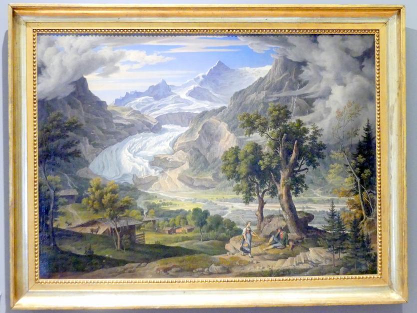 Joseph Anton Koch: Grindelwald Gletscher, 1823