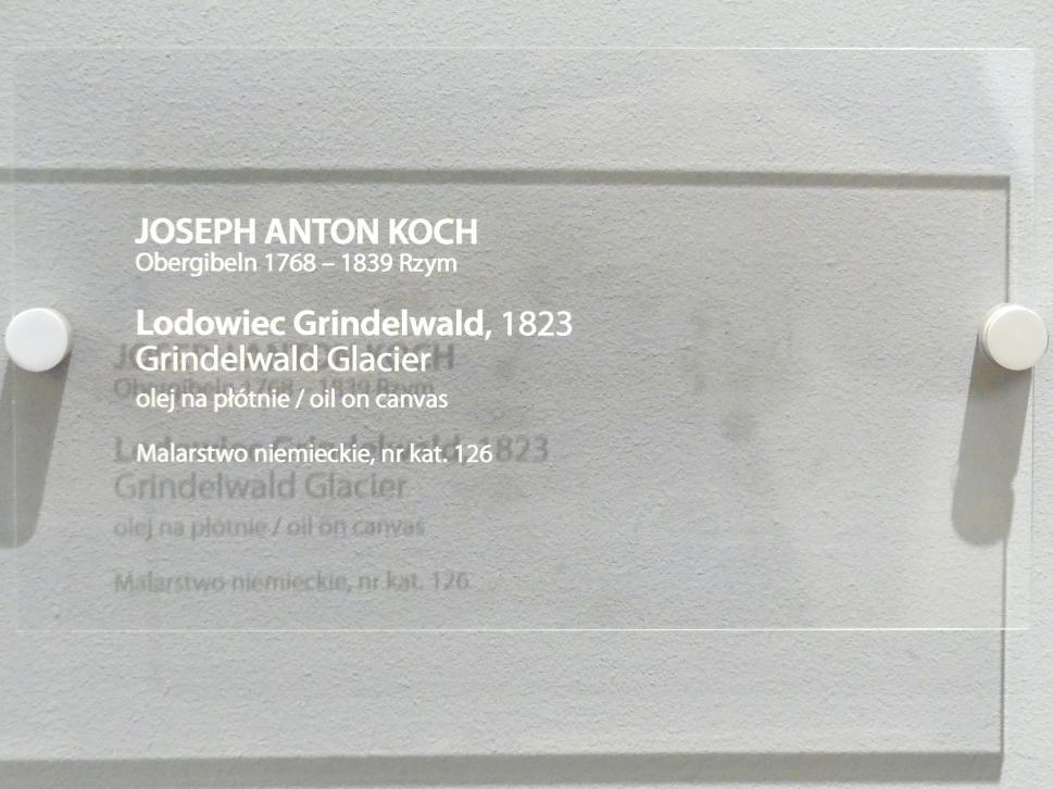 Joseph Anton Koch: Grindelwald Gletscher, 1823, Bild 2/2
