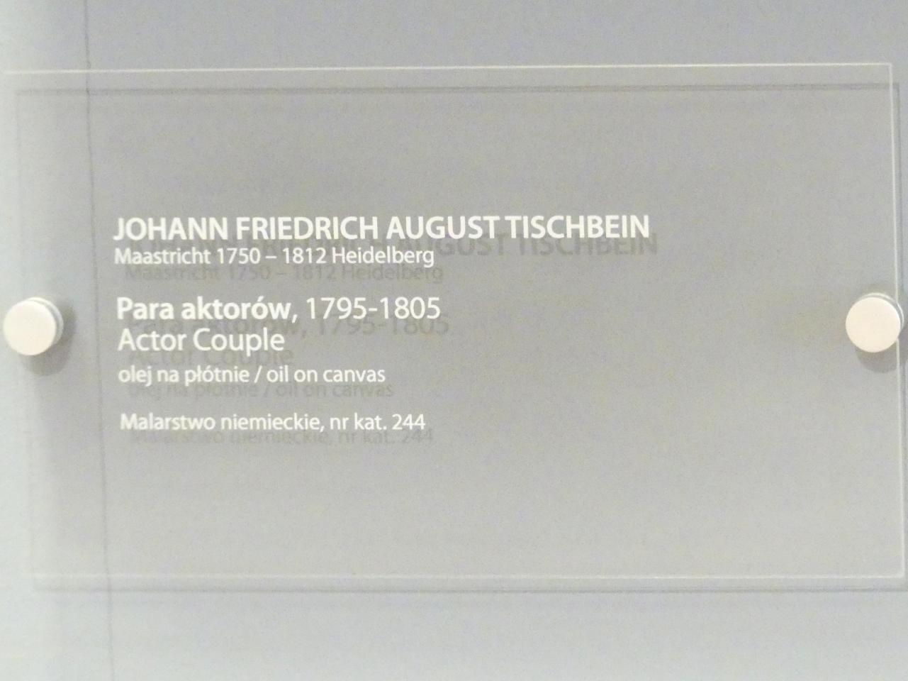 Johann Friedrich August Tischbein: Schauspielerpaar, 1795 - 1805, Bild 2/2