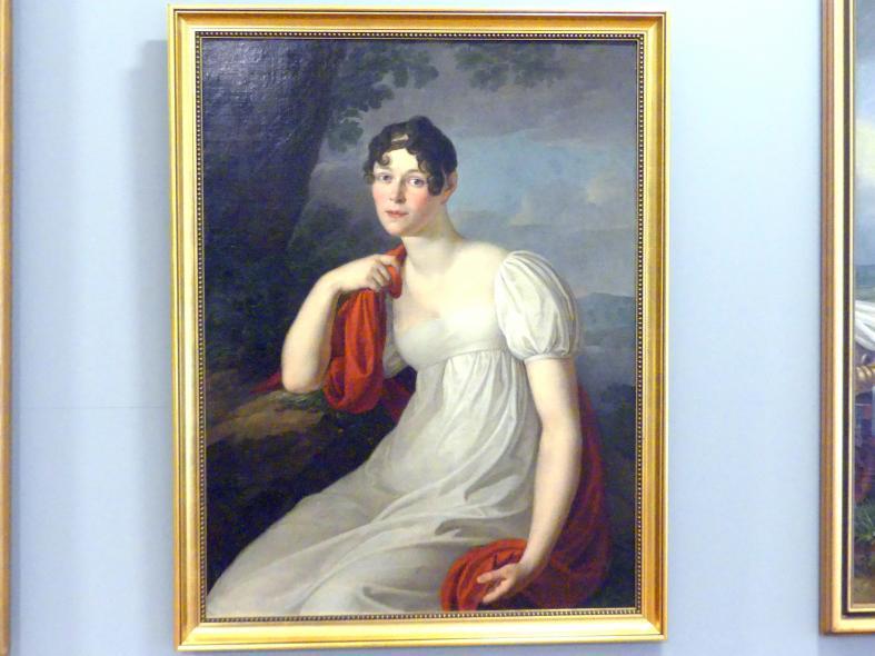 Friedrich Matthäi: Porträt einer Frau in weißem Kleid, 1810