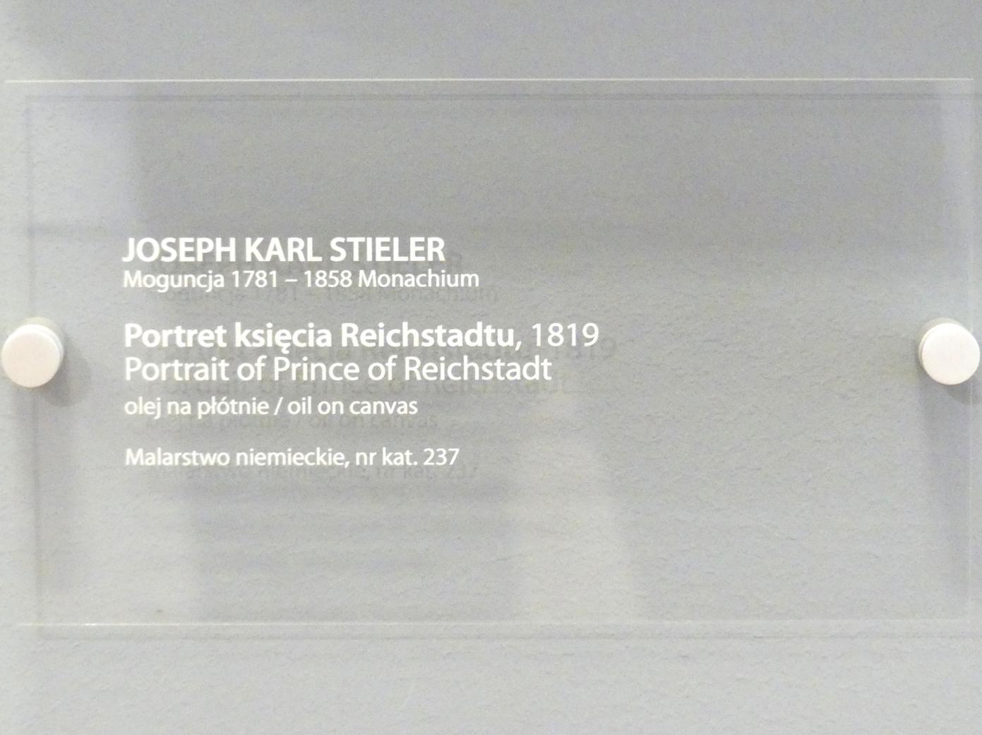 Joseph Karl Stieler: Porträt des Napoleon Franz Bonaparte (1811-1832), Herzog von Reichstadt (1818-1832), 1819, Bild 2/2