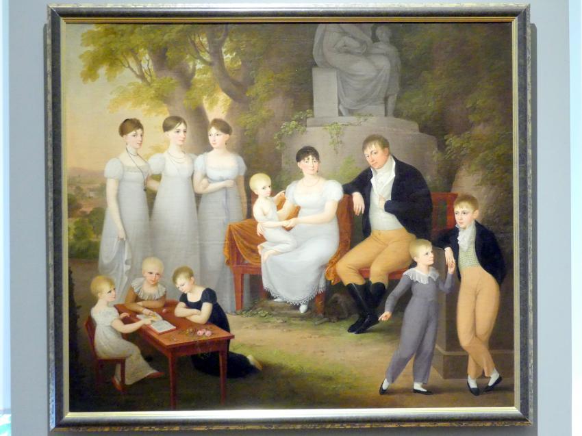 Susanne Henry: Porträt einer Familie im Park, um 1810