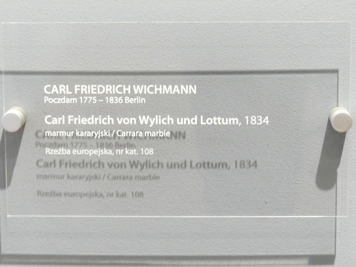 Karl Wichmann: Porträt des Carl Friedrich Heinrich Graf von Wylich und Lottum (1767-1841), 1834, Bild 4/4