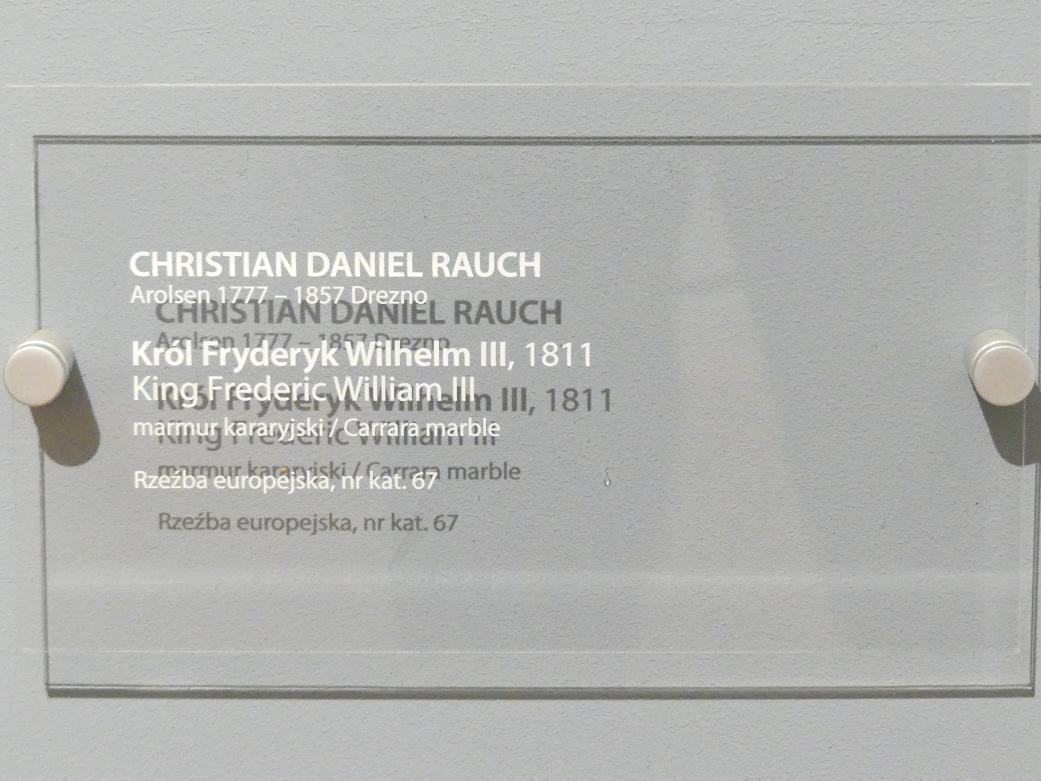 Christian Daniel Rauch: Porträt des Friedrich Wilhelm III. (1770-1840), König von Preußen (1797-1840), 1811, Bild 5/5