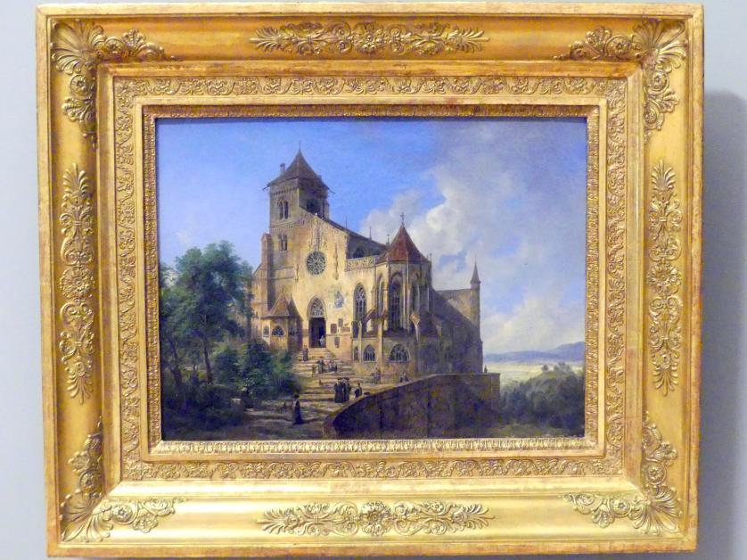 Domenico Quaglio: Landschaft mit einer Kirche, um 1830