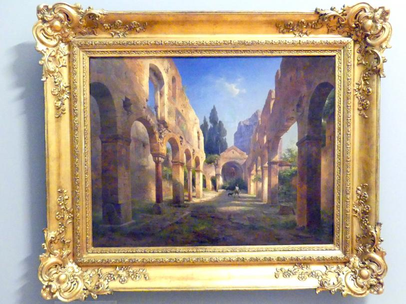 Albert Emil Kirchner: Basilika beim Castel San Pietro in Verona, 1845
