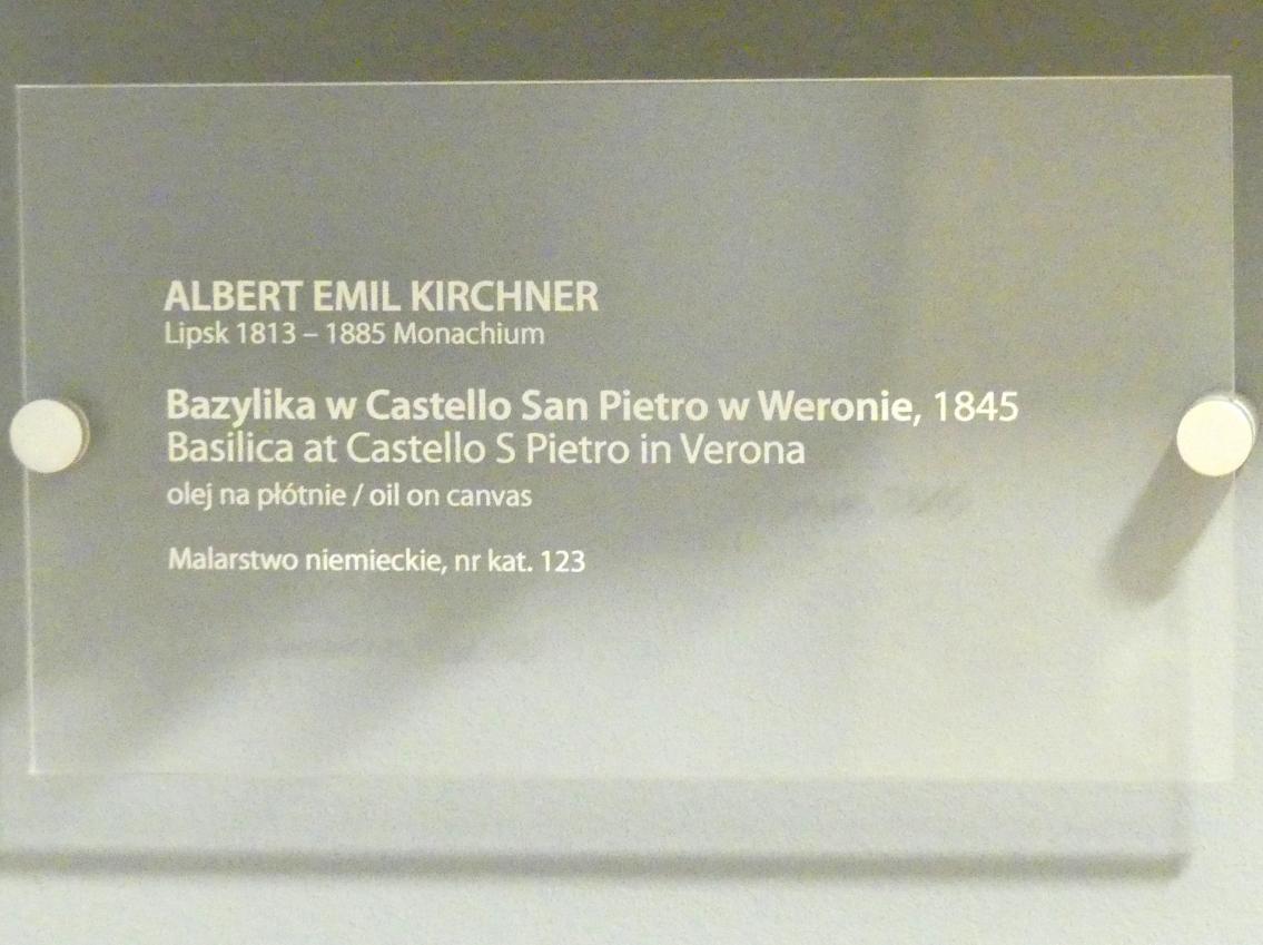 Albert Emil Kirchner: Basilika beim Castel San Pietro in Verona, 1845, Bild 2/2