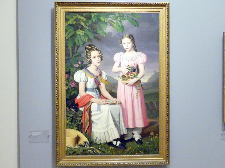 Peter von Rausch: Porträt zweier Mädchen, 1830
