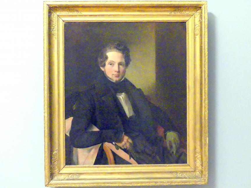 Johann Heinrich Engelbert Neumann: Mann mit grünen Handschuhen, 1836