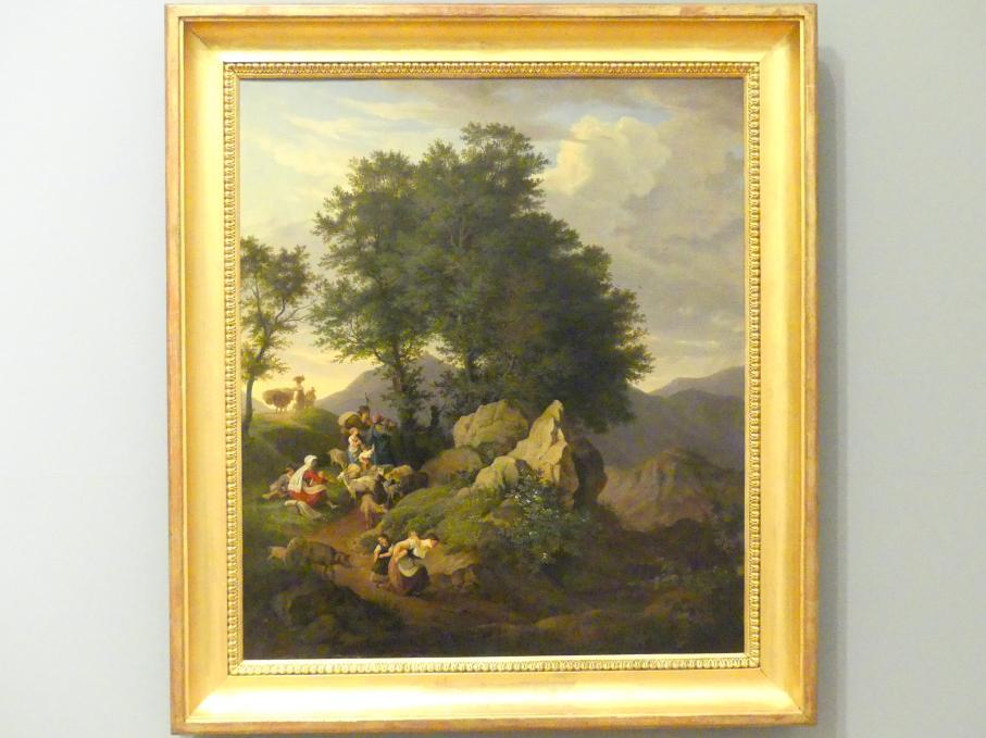 Ludwig Richter: Schäfer bei einem Bildstock, 1833