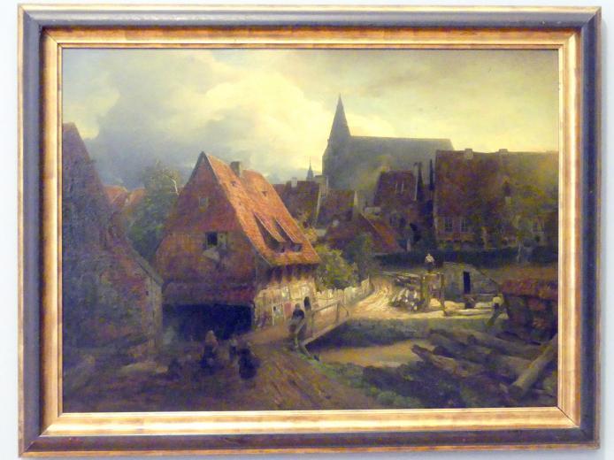 Andreas Achenbach: Blick auf Hildesheim, 1875