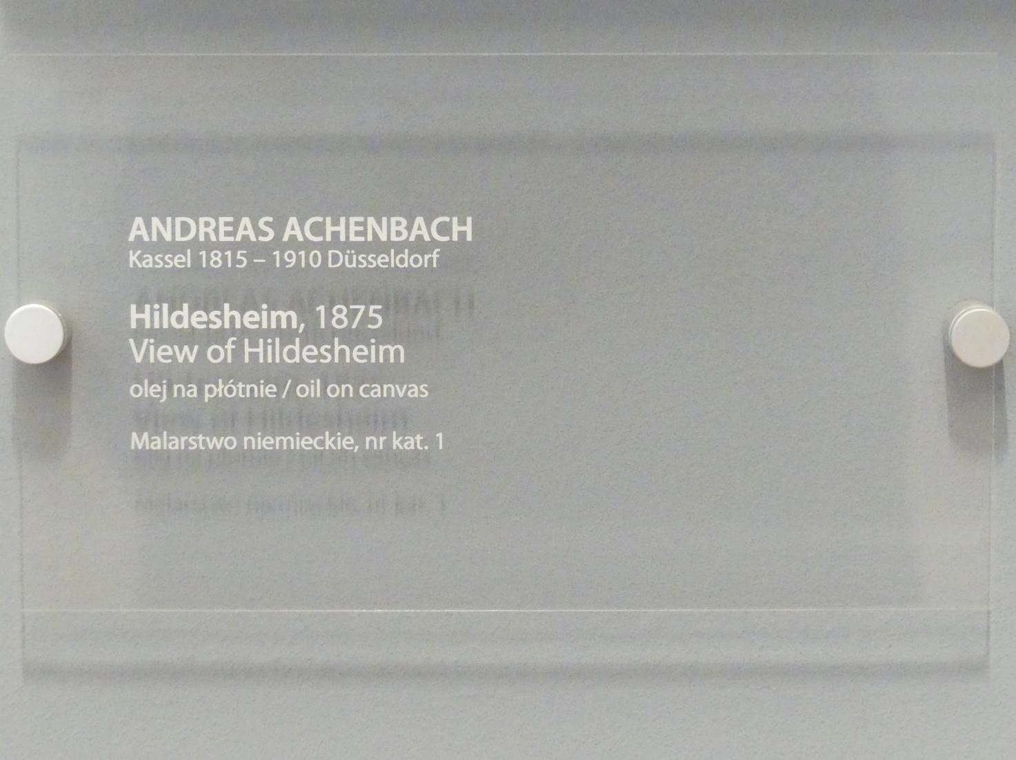 Andreas Achenbach: Blick auf Hildesheim, 1875, Bild 2/2