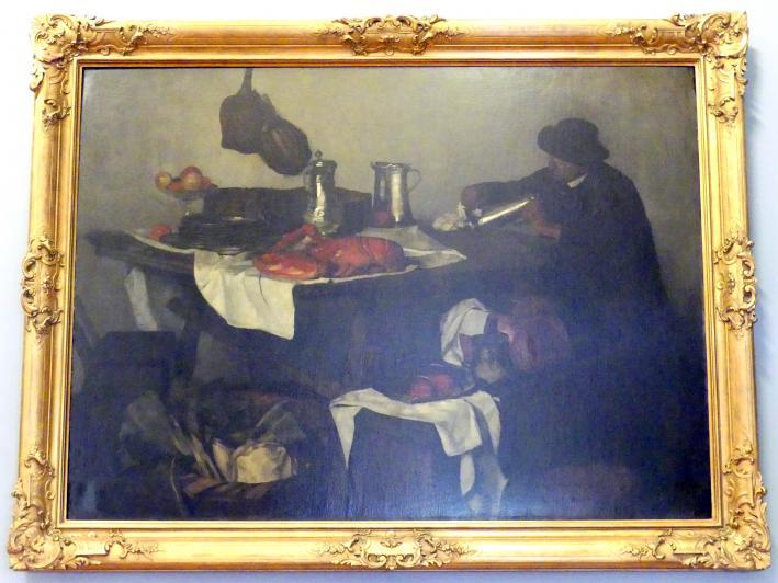 Carl Schuch: Stillleben mit Diener Matteo, 1879