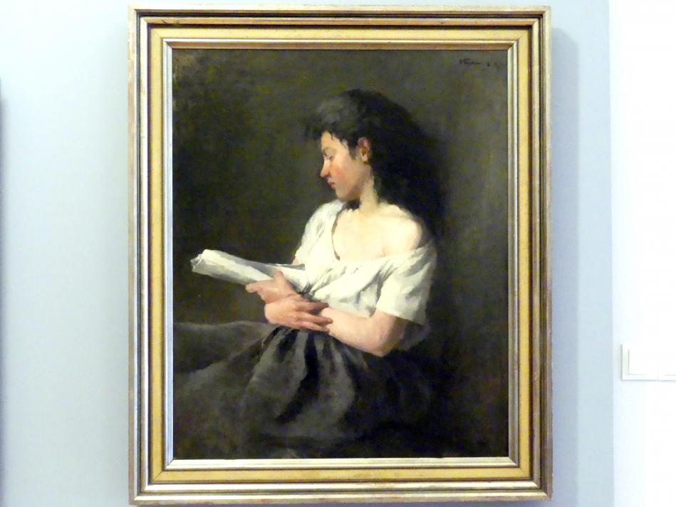 Wilhelm Trübner: Lesendes Mädchen, 1871