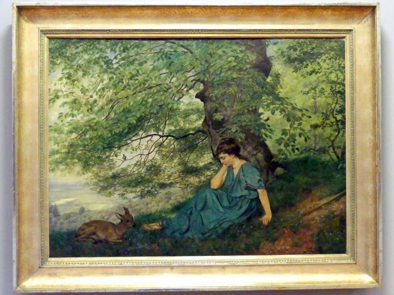 Hans Thoma: Diana unter dem Baum, 1878