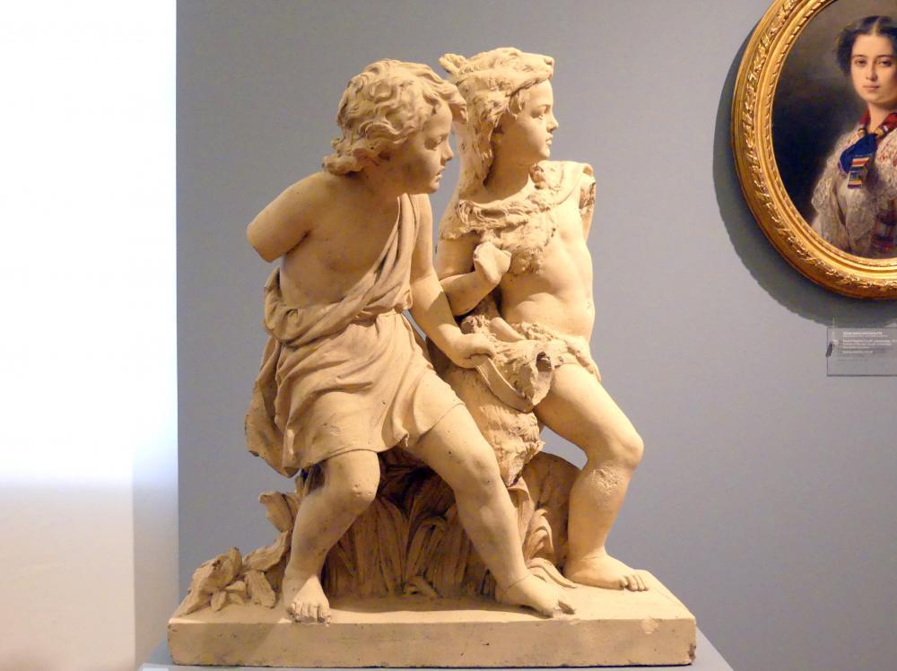 Alexander Calandrelli: Helle und Phrixos mit dem geflügelten goldenen Widder, 1874