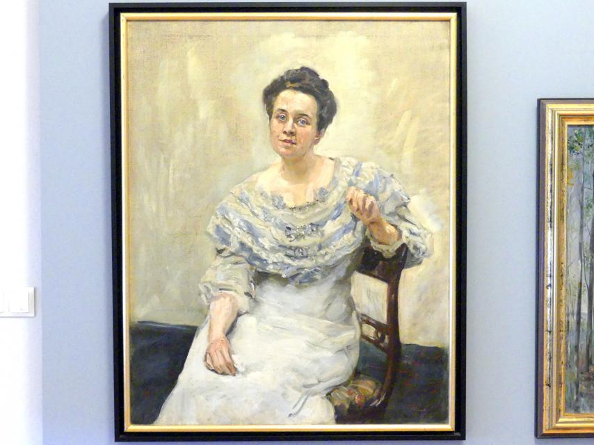 Max Slevogt: Dame in blau, 1907