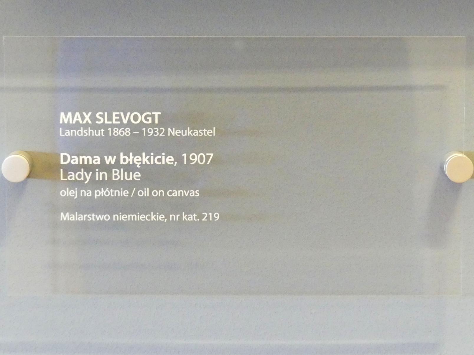 Max Slevogt: Dame in blau, 1907, Bild 2/2