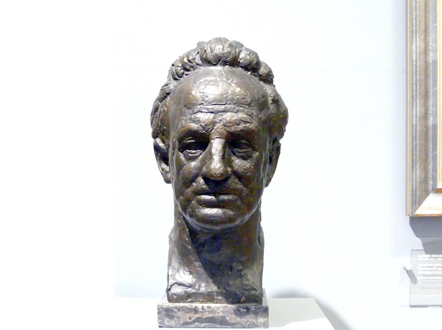 August Gaul: Büste Gerhart Hauptmann, 1917