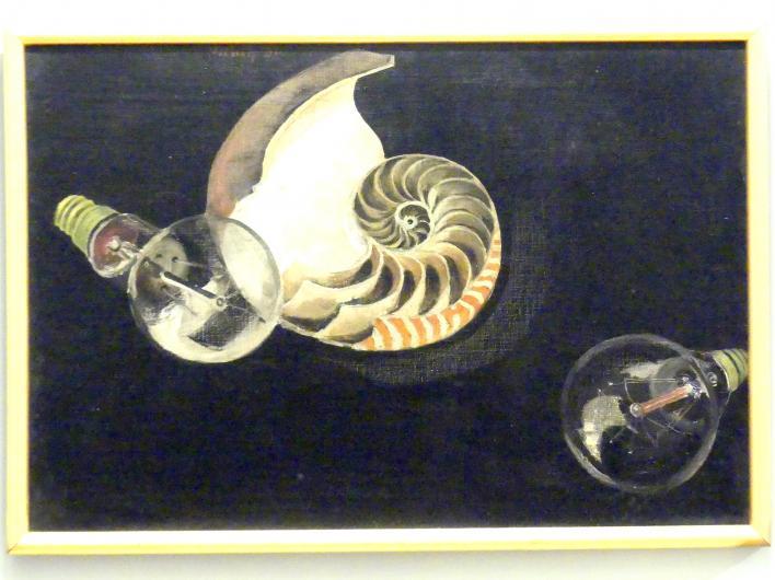 Georg Nerlich: Stillleben mit Muschel und Glühbirnen, 1931