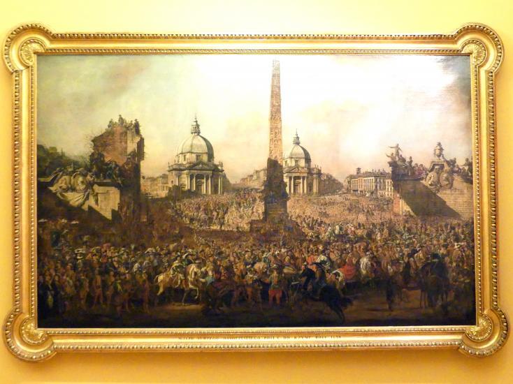 Bernardo Bellotto (Canaletto): Einzug des Jerzy Ossoliński (1595-1650) nach Rom, 1779